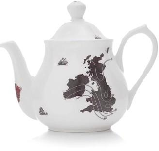 Ali Miller London Uk & Ireland Map- 4-Cup Teapot