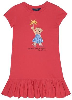 Polo Ralph Lauren Kids Polo Bear cotton dress