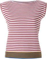 Roberto Collina striped sleeveless jumper
