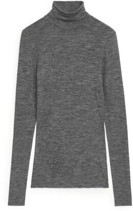 Arket Sheer Merino Wool Roll-Neck