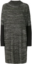 Y-3 contrast knitted dress