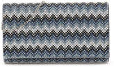 Nina Chevron Stripe Clutch - Women's
