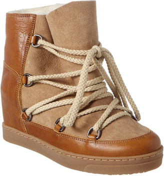 Isabel Marant Nowles Leather & Suede Snow Boot