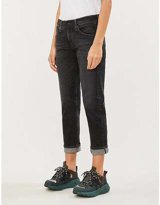 AG Jeans Ex-Boyfriend straight-leg mid-rise jeans