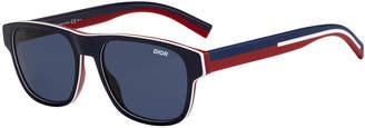 Christian Dior Men's Flag2 Square Colorblock Sunglasses