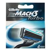 Gillette Mach 3 Turbo Cartridges 4 pack