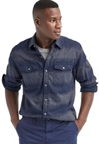Gap Stripe utility shirt jacket