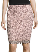 Design Lab Lord & Taylor Lace Pencil Skirt