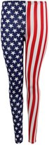 Forever Womens Usa Flag American Skinny Stretchy Leggings