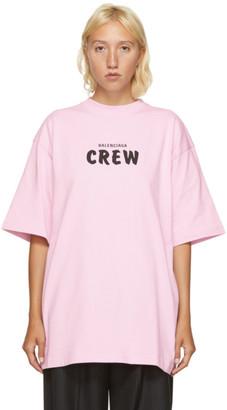 Balenciaga Pink Crew T-Shirt