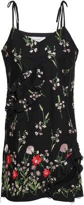Marques Almeida Marques' Almeida Cutout Embroidered Cotton-blend Mini Dress