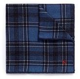 Isaia Tartan silk twill pocket square