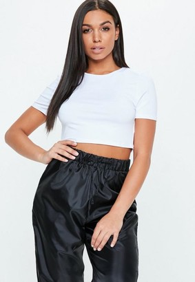 Missguided White Cap Sleeve Crop Top