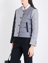 Thom Browne Patchwork padded wool bomber jacket