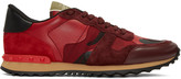 Valentino Red Camo Rockrunner Sneakers