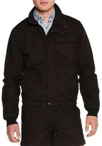 Tomas Maier Long-Sleeve Cotton Bomber Jacket, Black