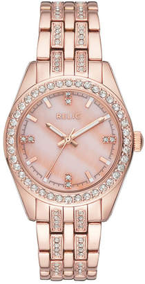 Fossil RELIC BY Relic By Womens Rose Goldtone Bracelet Watch-Zr34421