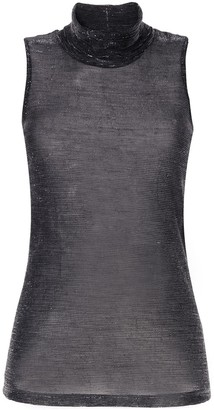 Dondup Roll-Neck Sleeveless Top