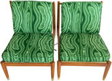 One Kings Lane Vintage Swedish Slipper Chairs, Pair