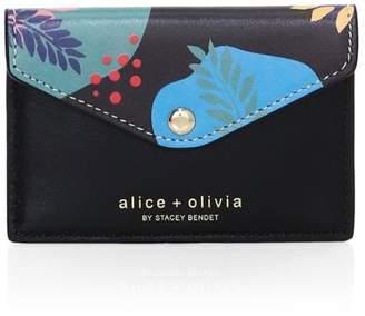 Alice + Olivia Lexi Printed Leather Envelope Card Case