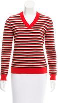 Jonathan Saunders Striped Long Sleeve Sweater