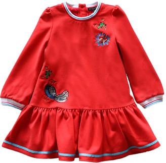 Island Kids & Kids Isle Girl's Patch Details Drop-Waist Dress, Size 4-12