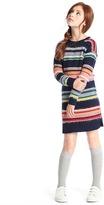 Gap Multi stripe tufted sweater dress