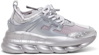 Versace Metallic Chain Reaction Sneakers