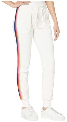 Hard Tail Sunset Stripe Jogger (Cream) Women's Casual Pants
