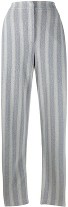 Emporio Armani Striped Herringbone Trousers
