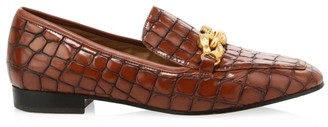 Tory Burch Jessa Croc-Embossed Leather Loafers