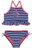 Hula Star Toddler Girl's Retro Stripetwo-Piece Swimsuit