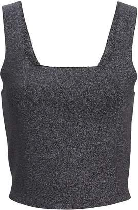 A.L.C. Victoria Metallic Knit Tank Top