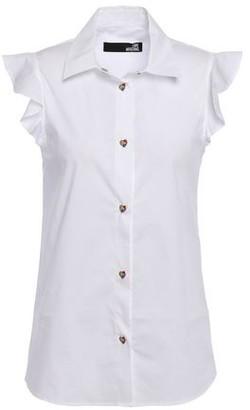 Love Moschino Ruffled Stretch-cotton Poplin Shirt