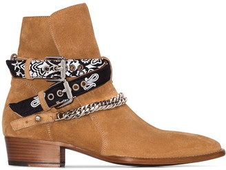 Amiri bandana strap buckle boots