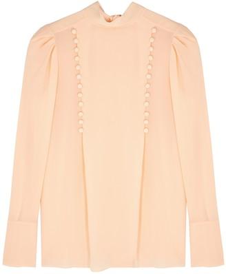 Givenchy Blush silk-chiffon blouse