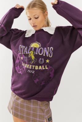 Urban Outfitters Stallions Tie-Dye Sweatshirt - Purple XS at