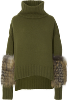 Sally LaPointe Rib-Knit Wool And Cashmere Sweater