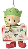 Precious Moments Peace And Christmas Cheer In Here Elf Christmas Ornament