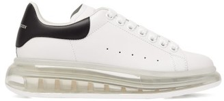 Alexander McQueen Raised Bubble-sole Leather Trainers - Womens - White Black