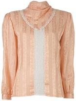 Valentino lace panel blouse