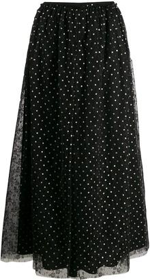 RED Valentino Polka-Dot Tulle Skirt