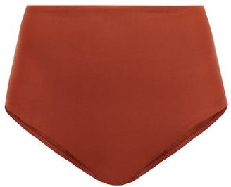 Matteau - The High Waist Bikini Briefs - Womens - Dark Red