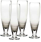 Mikasa Swirl Smoke Pilsner Glass Set of 4