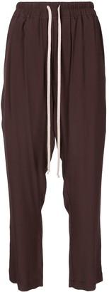 Rick Owens Drawstring Silk-Blend Track Pants