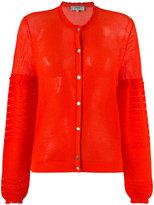 Carven round neck cardigan - women - Cotton/Nylon - M