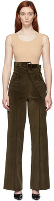 Situationist SSENSE Exclusive Khaki Corduroy Trousers