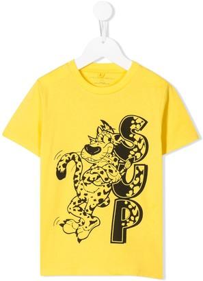 Stella McCartney Kids sup leopard print T-shirt