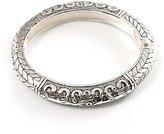 Avalaya Silver Tone Vintage Inspired Hinged Bangle Bracelet