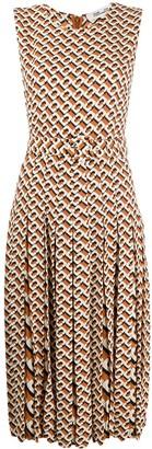Dvf Diane Von Furstenberg Geometric Print Dress